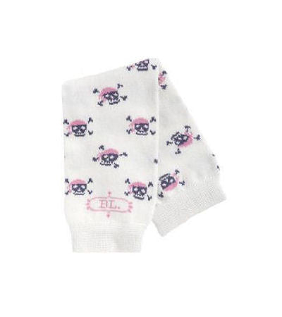 Jolly Jill Pink Skull & Crossbones Baby Toddler Leg Warmers
