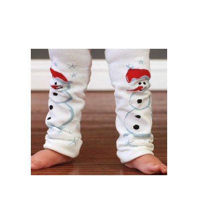 Snowman Baby Infant Toddler Leg Warmers