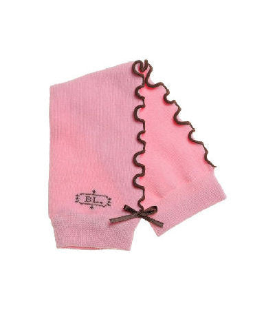 Sugar Pie Pink & Brown Infant Baby Toddler Leg Warmers