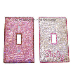 Swarovski Crystal Custom Light Switch Cover Bedroom Decor