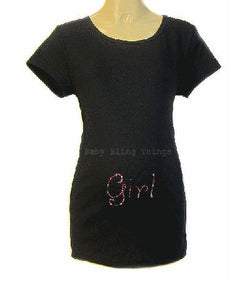 Maternity Swarovski Crystal Rhinestone Bling Girl Shirt