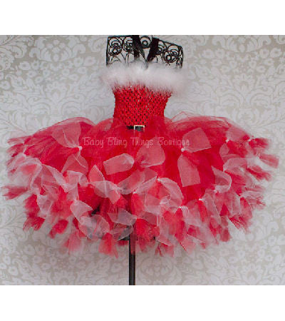Miss Santa Claus Christmas Tutu Dress