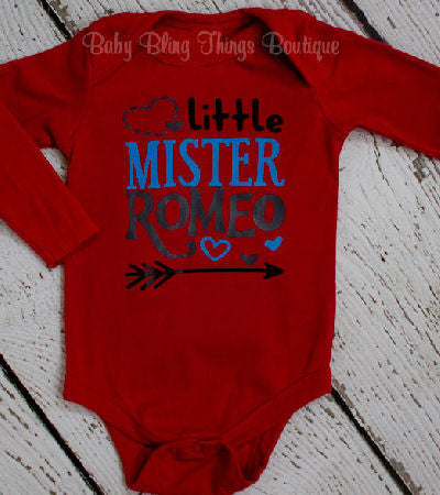 Little Mr. Romeo Valentine Boys Shirt