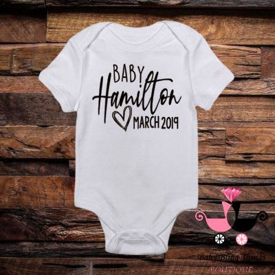 Personalized Baby Announcement Bodysuit