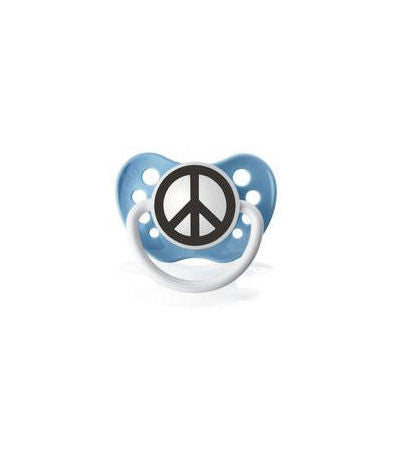 Peace Sign Blue Pacifier