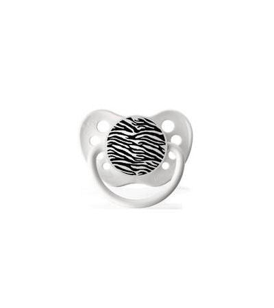 Zebra Print on White Pacifier
