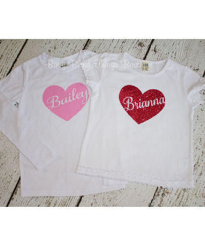 Personalized Heart Valentine's Shirt