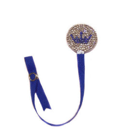 Prince Crown Rhinestone Crystal Pacifier Clip Attacher