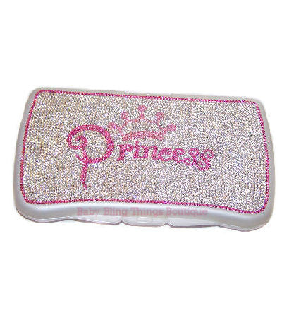 Princess Swarovski Crystal Bling Diaper Wipe Case