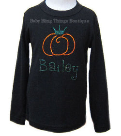 Pumpkin Princess Personalized Rhinestone Shirt