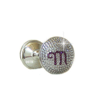 Initial Swarovski Crystal Baby Bling Rattle