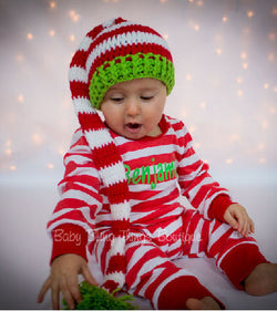 Red Stripe Personalized Christmas Pajamas
