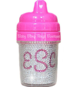 The Diamond Personalized Swarovski Crystal Sippy Cup