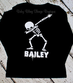 Skeleton Dab Trendy Halloween Personalized Shirt