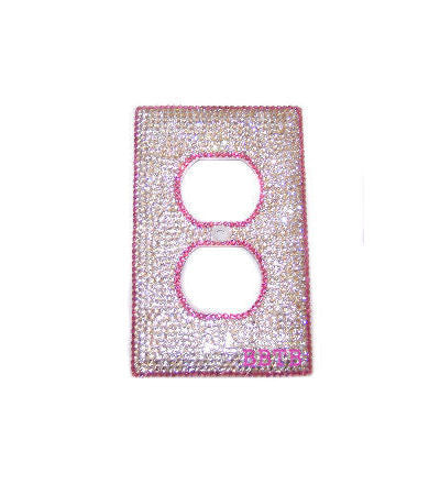Swarovski Crystal Custom Bling Socket Cover Bedroom Decor