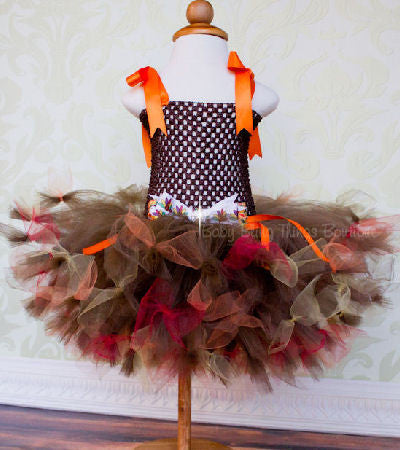 Thanksgiving Fall Infant Toddler Girls Tutu Dress