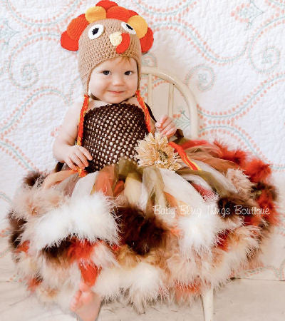 Turkey Feather Tutu Dress