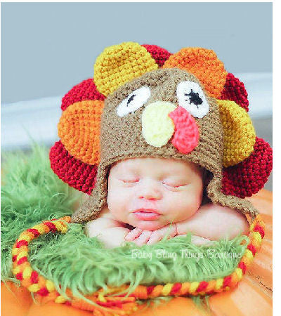Turkey Thanksgiving Crochet Hat