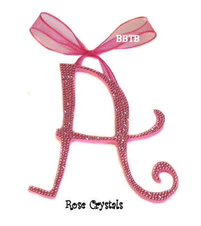 Custom Swarovski Crystal Whimsical Curly Nursery Wall Letter