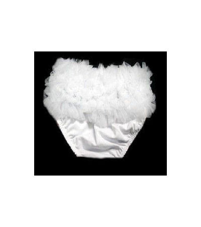White Baby Infant Toddler Chiffon Petti Bloomers