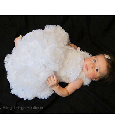 White Baby Ruffle Petti skirt Set