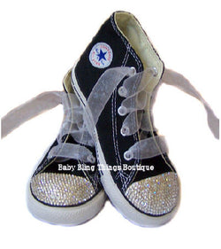 Womens Diamond Swarovski Crystal Bling Converse Shoes