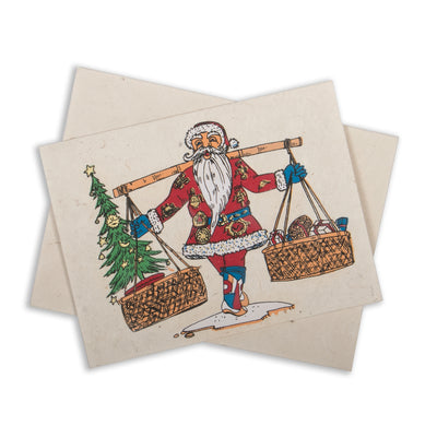 Handmade Lokta Paper Greeting Cards - Holiday Edition - Set of 3