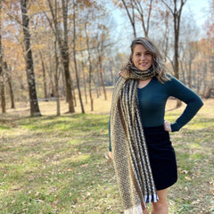 A-044 Plaid Oblong Scarf in 3 colors
