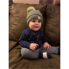 A-047 Single Pom Baby Beanie