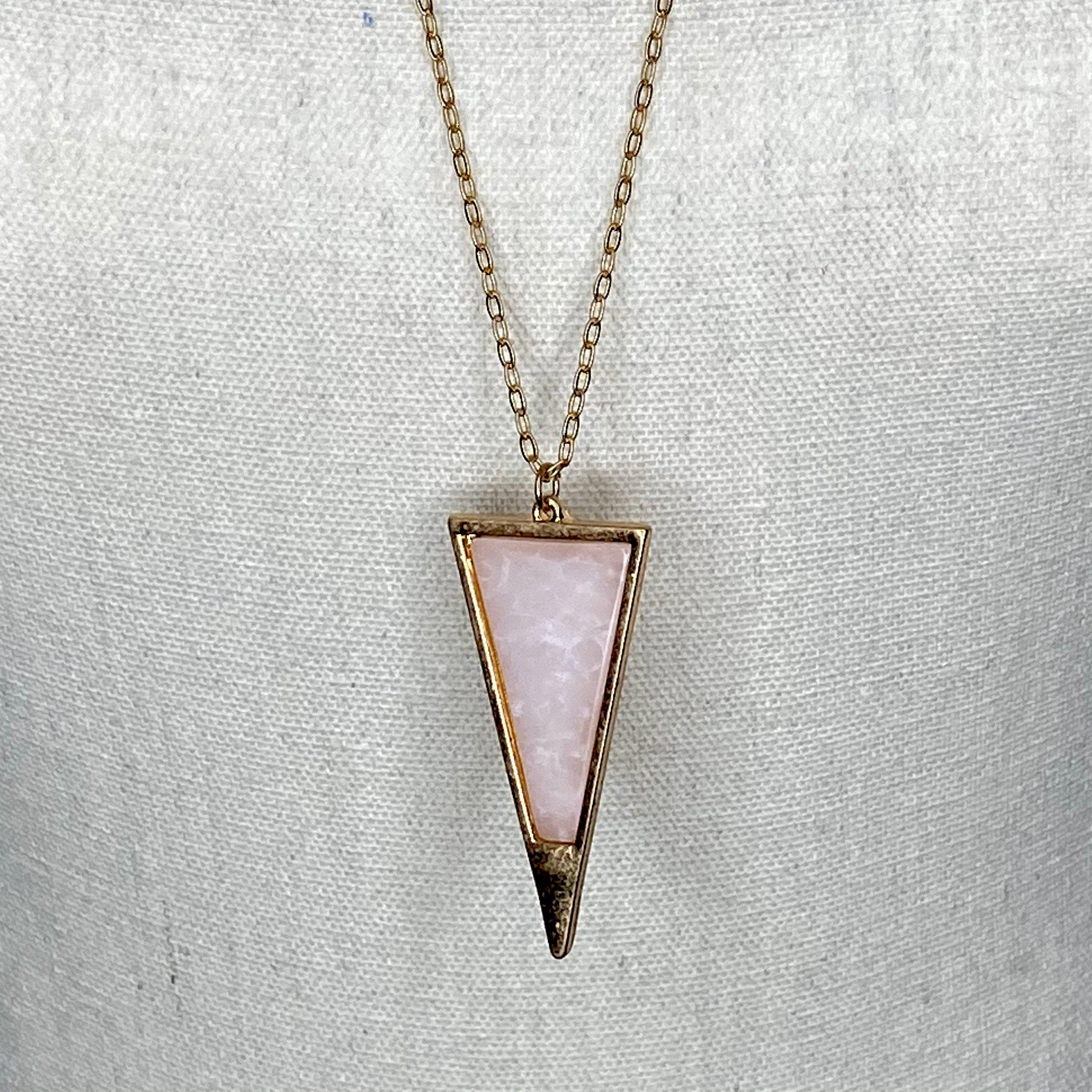 Triangle stone Necklace in 2 colors