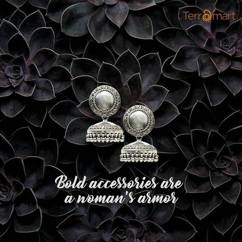 WEAR YOUR ATTITUDE BY WEARING OXIDISED BLACK METAL JEWELLERY FROM TERRAMART!
