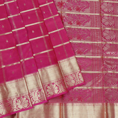 Terramart Silk Sarees - Designer Pink Color Strips Saree with Gold Border
