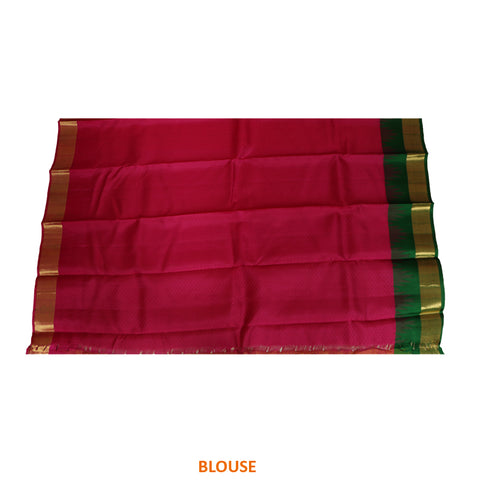 Terramart Silk Sarees - Celebrity Style Mustard color Saree with Pink, Green & Gold Colour Border