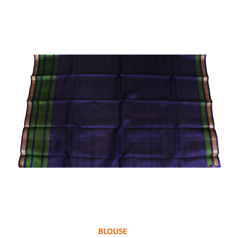 Terramart Silk Sarees - Exclusive Grey, Black Color Saree with Navy Blue, Green & Gold Colour Border