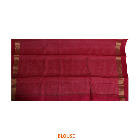 Terramart Sico Saree - Neat designed Apple Green color Saree with Pink & Gold colour Border