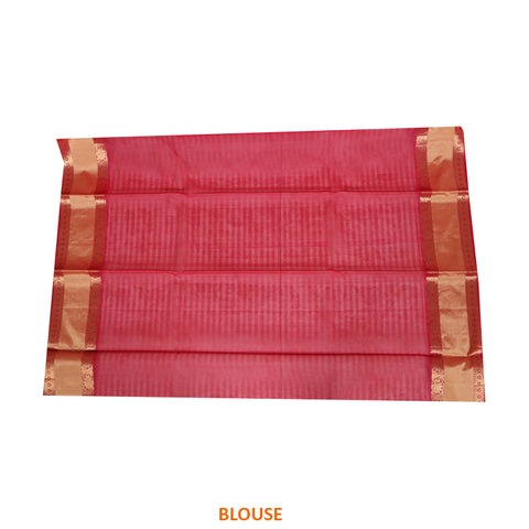 Terramart Sico Saree - Stylish Sandal color Saree with Pink & Gold color Border