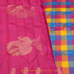 Terramart_Exclusive Soft Silk Pure Pattu Saree for Girls / Women (Multicolour & Gold)