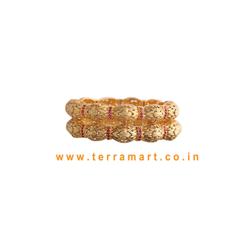 Good Looking Pink Stone Pair Bangles