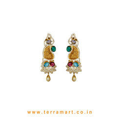 Marvellous Multicolor Grand Zircon Stone Earrings - Terramart Jewellery