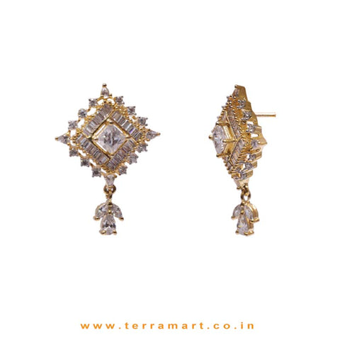 Creative White Zircon Stone Pendent With Earrings - Terramart Jewellery