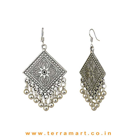 Charming Oxidised Metal Hook Earrings - Terramart Jewellery