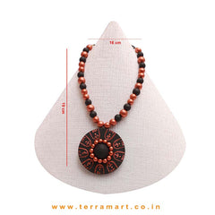 Black & Copper Colour Combinated Grand Chain Set & Stud Earring - Terramart Jewellery