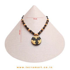 Pleasing Black & Gold Colour Handmade Terracotta Chain Set