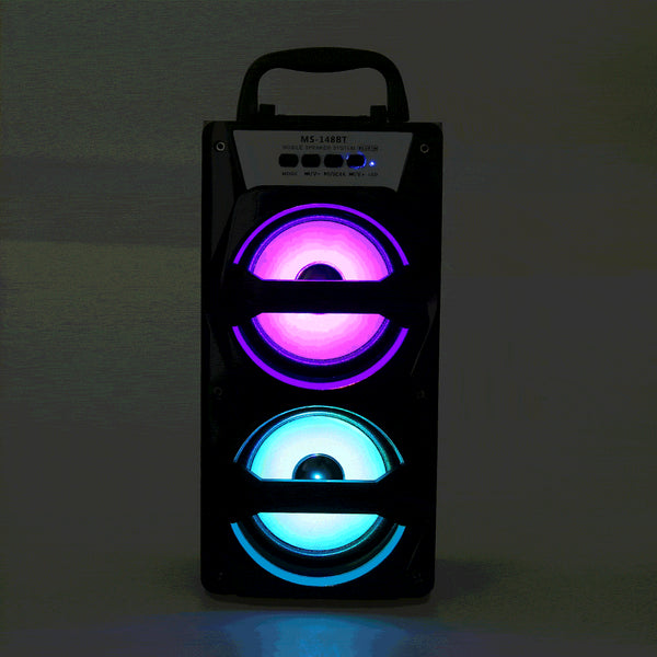 Portable FM Radio - Wireless Bluetooth Speaker