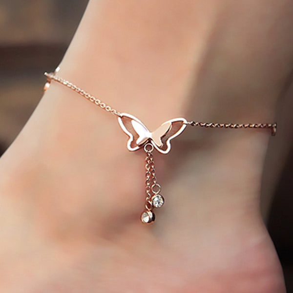 Beautiful Butterfly Tassel Anklet