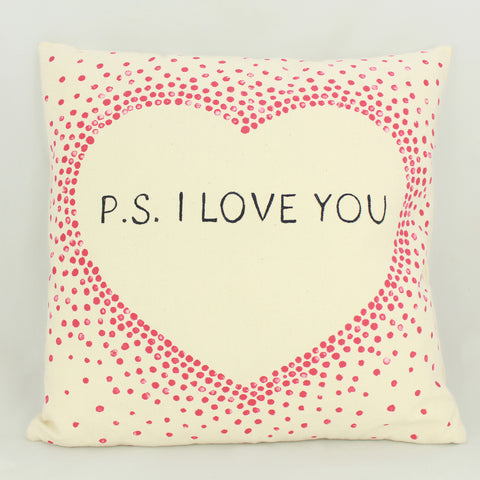P. S. I love you pillow