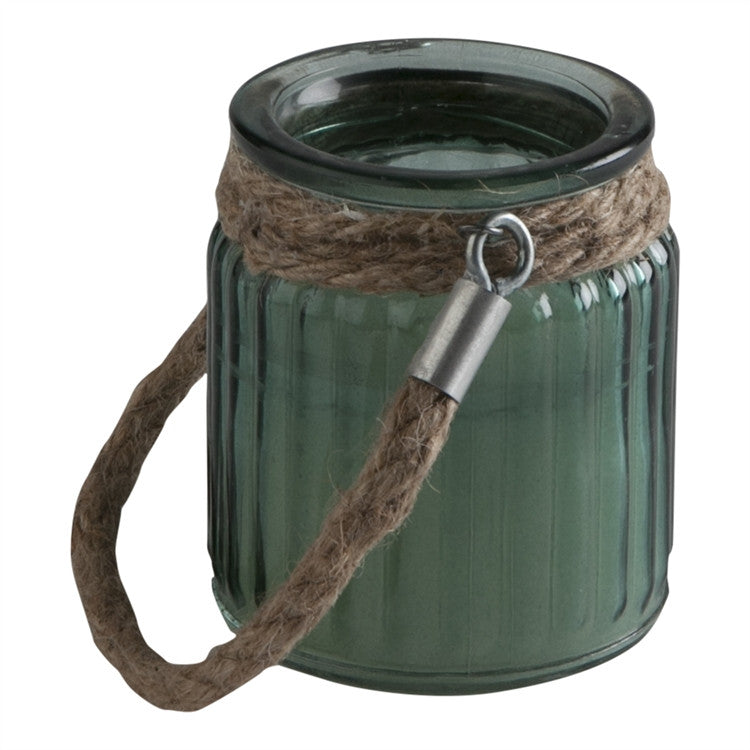 Candle- Citronella Filled Lantern - Green