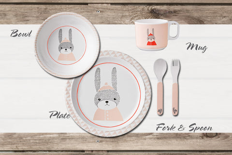 Kids Dinnerware Set - Forest Friends