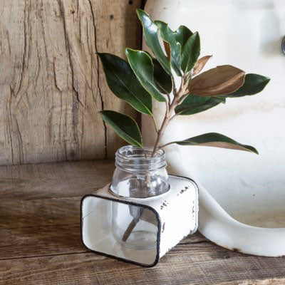 Rustic Flower Jar w Mason Glass