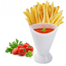 French Fry Dipping Cup Potato French Fry Cone with Dipping Cup